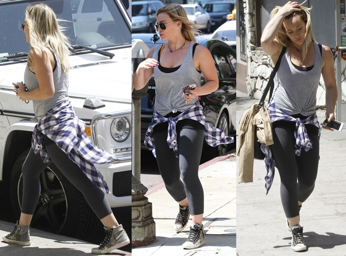 Hilary Duff out and about in Hollywood Featuring: Hilary Duff Where: Hollywood, California, United States When: 03 Sep 2014 Credit: WENN.com